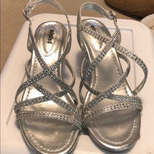 Unlisted Silver Rhinestone Evening Shoes